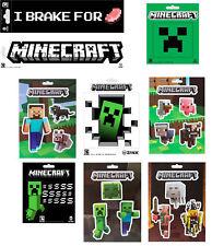 Minecraft Sticker zur Auswahl u.a. Creeper, Steve Pets. Creeper SS, Inside, Mobs