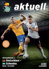 WM-Qualifikation 16.10.2012 Deutschland - Schweden / Sweden in Berlin