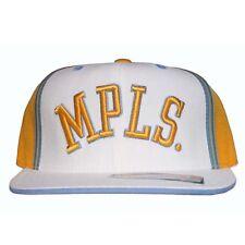 REEBOK LA LAKERS HAT NEW 7 5/8 CAP D'FUNKD MPLS FITTED MINNEAPOLIS RETRO VINTAGE