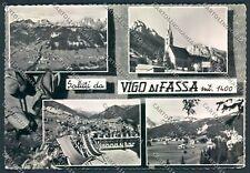 Trento Vigo di Fassa Saluti da Foto cartolina C6027 SZA