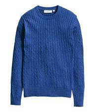H&M Zopfpullover / Pullover Gr. S blau *NEU!*