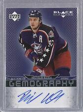 2007-2008 Black Diamond Hockey Rostislav KIesla Gemography Auto Card