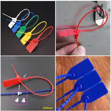 100 x de Colores Plástico Seguridad Etiquetas Numerados TIRE ties JUNTAS