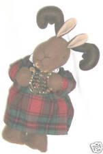 """Rabbit Raindeer 10"""" Figurine Music Box """"White Christmas"""