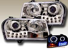 05-09 Chrysler 300 Projector Headlights Chrome Clear CCFL 2 Halo LED
