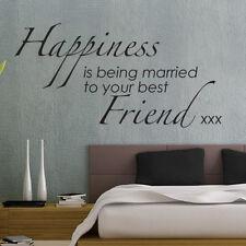 Happiness est Being Married votre meilleur ami mots citations Autocollant Mural
