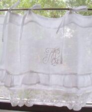 Scheibengardine MARIELLA VOLANT Leinen Bistro 140 od 160x45 Weiß Shabby Vintage