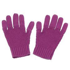 5031Z guanti GIRL BURBERRY LONDON mix cotton/wool magenta violet gloves
