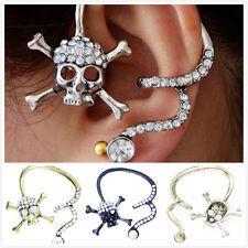 Crystal skull / Pegasus wing Unicorn star ear cuff clip stud Wrap Earring
