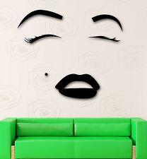 Wall Sticker Vinyl Decal Hot Sexy Girl Eyes Lips Beauty Salon Makeup (ig2057)