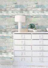 Wallpops Realistic Beachwood Peel and Stick Blue Gray Green White NU Wallpaper