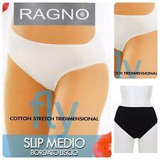 2 SLIP donna RAGNO Fly Medio in cotone strech bianco nero