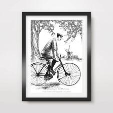 BIKE ART PRINT POSTER Vintage Design Wall Cycling Bicycle A4 A3 A2 Decor