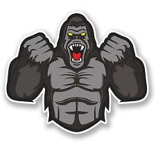 2 x Gorilla Vinyl Sticker Decal iPad Laptop Car Bike Helmet Ape Monkey Fun #4742
