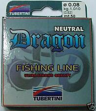 Monofilo DRAGON TUBERTINI uno dei più Resistenti #0.10 - 1,620 KG - 50 mt