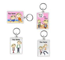 Personalised Charlie & Lola Keyring Bag or Coat Tags - School Kids Boys or Girls