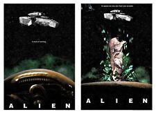 Nostromo Spaceship In Space No One Hear Scream Alien Movie Franchise Artwork Set