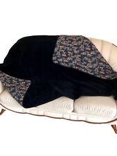 """Wolldecke /""""Patchwork/"""" Couchdecke Überwurf Tagesdecke Decke Einseitig 100/% Wolle"""