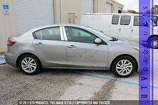 GTG 2010 - 2013 Mazda 3 4dr Sedan 6PC Chrome Stainless Steel Pillars Posts