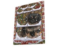 Please Come Home For Christmas Pekingese Dog Sitting Window Blanket Blnkt54129