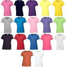 5 Pack Ladies Women's Gildan Heavy Cotton T Shirt Top Girls Tee 18 Colours S-XXL