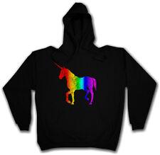 UNICORN I HOODIE Rainbow Colors Einhorn Regenbogen The Last Cartoon Tattoo
