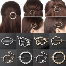 Damen Haarklammer Haarspange Legierung Geometrisch Mond Kreis Dreieck Trend Neu