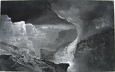 CLOUD BURST ON GRAND CANYON MOUNTAIN TOP ~ Old 1888 Landscape Art Print