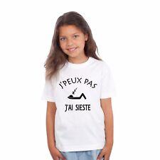 T-shirt ENFANT J'PEUX PAS J'AI SIESTE