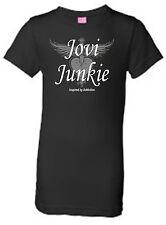 Bon Joiv  Jovi Junkie Heart & Dagger Glitter T-Shirt