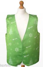 Navidad Chaleco Árbol Verde Copo de Nieve Santa Disfraz Novedad Idea Regalo