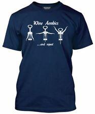 El vino Aerobics-Funny potable Cumpleaños jubilación Camiseta