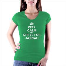 Keep Calm and Strive for Jannah T - Shirt Islam Allah Religion Love Peace NEU !