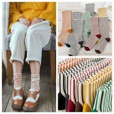 Ankle Cute Striped Socks Cotton Elastic Hosiery Knit