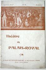 THEATRE PALAIS ROYAL DAME DU 23 DELYS RESCHAL PIERVAL