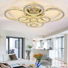 LED clear/amber Crystal Ceiling Light Living Chandelier Lobby Pendant Lamp Yc