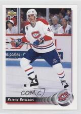 1992-93 Upper Deck #277 Patrice Brisebois Montreal Canadiens Hockey Card