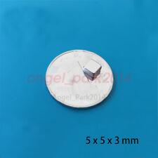 Lots 5 X 5 X 3 MM  Strong  Disc Block Magnets Rare Earth Neodymium N52