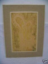 Holzschnitt Maria mit Kind Biberach a.d.Riss *!