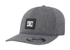 DC Star Cap Charcoal Gray Stretch Fit Cap Adult Men  Hat