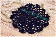 2pz decorazione uncinetto fatto a mano tonda misura 11 cm bijoux moda handmade