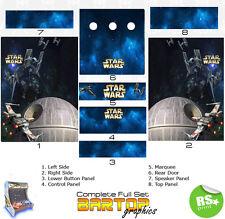 Starwars Full/Half Sets Arcade Stickers Graphics / Laminated All Sizes