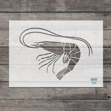 Prawn STENCIL Home Wall Interior Decor Wall Art Shrimp Template Sea Life