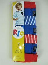 Rio Boys 7 Pack Soft Breathable Cotton Briefs Underwear sizes 2 3 4 6 8 (16K)
