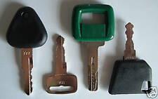 !4 Volvo Keys - Heavy Equipment Key Set w/ Laser - NEW!