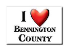 SOUVENIR USA -  BRAND NEW GIFT FRIDGE MAGNET AMERICA I LOVE BENNINGTON COUNTY