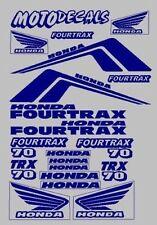 Decals Stickers Graphics Kit Honda Fourtrax TRX70 TRX 70 tank fender Emblems