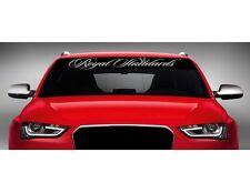 "40"" Royal Standards Car Decal Sticker Windshield Banner JDM Import Script Illest"