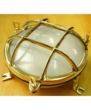 Aplique lámpara náutica redondo en fundición latón