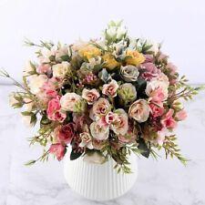 Rose Artificial Flower Bouquet Hydrangea Leaf Accessory Home Wedding Decoration